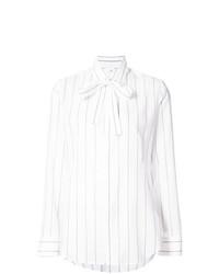 Blusa de botones de rayas verticales blanca de Y's