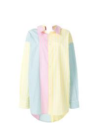 Blusa de botones de rayas verticales en multicolor de Marni