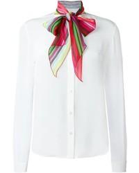 Blusa de Botones de Seda Blanca de Mary Katrantzou