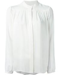 Blusa de Botones de Seda Blanca de MICHAEL Michael Kors