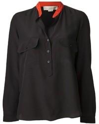 Blusa de botones de seda negra de Stella McCartney