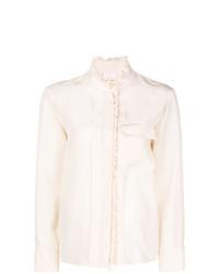 Blusa de botones en beige de Chloé