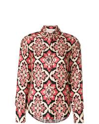 Blusa de botones en multicolor de La Doublej