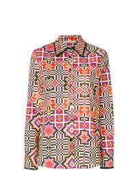 Blusa de botones en multicolor de Miahatami