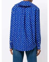 Blusa de botones estampada azul de Marni