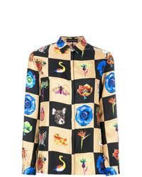 Blusa de botones estampada en multicolor de Etro