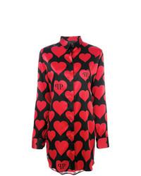 Blusa de Botones Estampada Negra de Philipp Plein