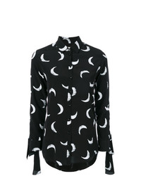 Blusa de botones estampada negra de Saint Laurent
