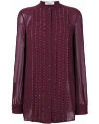 Blusa de botones morado oscuro de Valentino