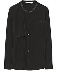 Blusa de Botones Negra