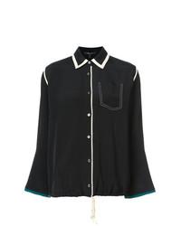 Blusa de botones negra de Derek Lam
