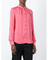 Blusa de botones rosada de Lanvin
