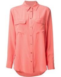 Blusa de botones rosada de Equipment