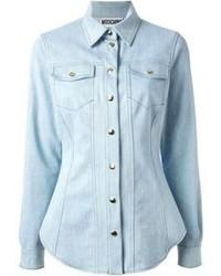 Blusa de botones vaquera celeste de Moschino