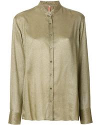 Blusa de botones verde oliva