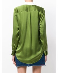 Blusa de botones verde de Equipment