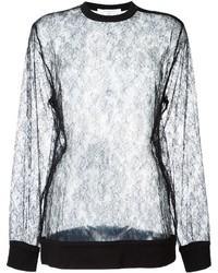 Blusa de encaje negra de Givenchy