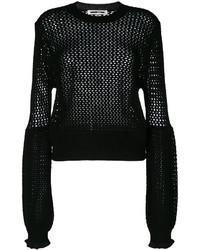 Blusa de lana de punto negra de MCQ