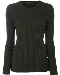 Blusa de lana verde oscuro de Versace
