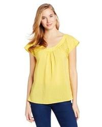 Blusa de manga corta amarilla