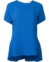 Blusa de manga corta azul