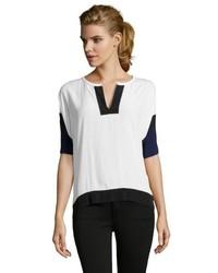 Blusa de manga corta blanca y negra original 3140421