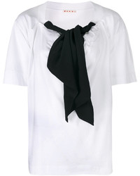Blusa de Manga Corta Blanca y Negra de Marni