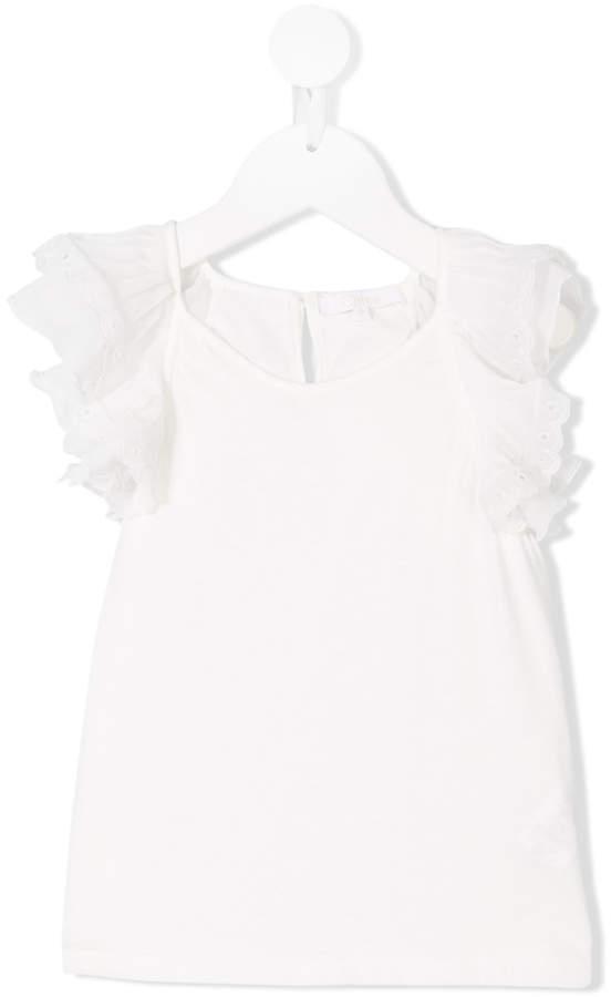 Blusa de manga corta blanca