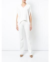 Blusa de manga corta blanca de Derek Lam