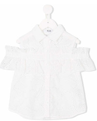 Blusa de manga corta blanca de MSGM
