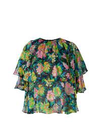 Blusa de manga corta con print de flores en multicolor de MSGM