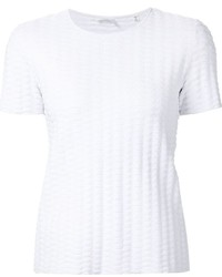 Blusa de Manga Corta con Relieve Blanca de A.L.C.