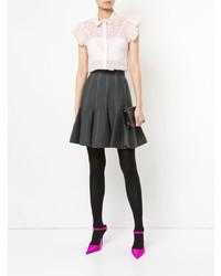 Blusa de manga corta de encaje rosada de Giambattista Valli