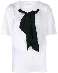 Blusa de manga corta en blanco y negro de Marni
