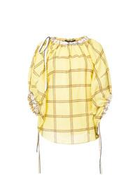Blusa de manga corta estampada amarilla de Derek Lam