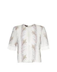 Blusa de manga corta estampada blanca de Giambattista Valli