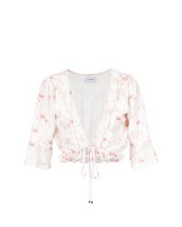 Blusa de manga corta estampada blanca de Olympiah