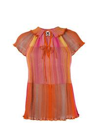 Blusa de manga corta estampada naranja de M Missoni