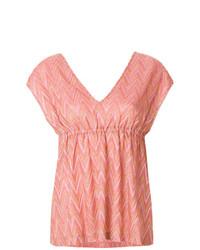 Blusa de manga corta estampada rosada de M Missoni