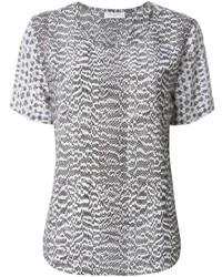 Blusa de manga corta gris