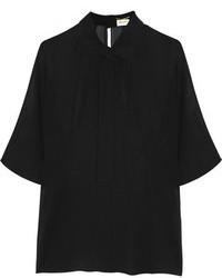 Blusa de manga corta negra original 1289823