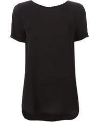 Blusa de manga corta negra de MICHAEL Michael Kors