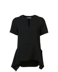Blusa de manga corta negra de T by Alexander Wang