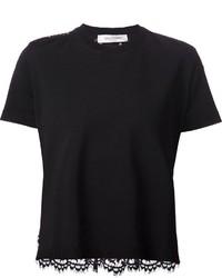 Blusa de manga corta negra de Valentino