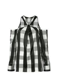 Blusa de manga larga a cuadros en negro y blanco de Rag & Bone