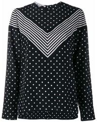 Blusa de manga larga a lunares negra de Stella McCartney