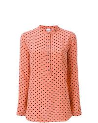 Blusa de manga larga a lunares rosada de Aspesi
