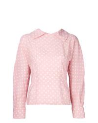 Blusa de manga larga a lunares rosada de Marni
