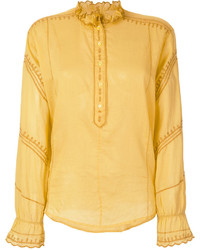 Blusa de manga larga amarilla de Etoile Isabel Marant