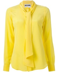 Blusa de manga larga amarilla de Moschino